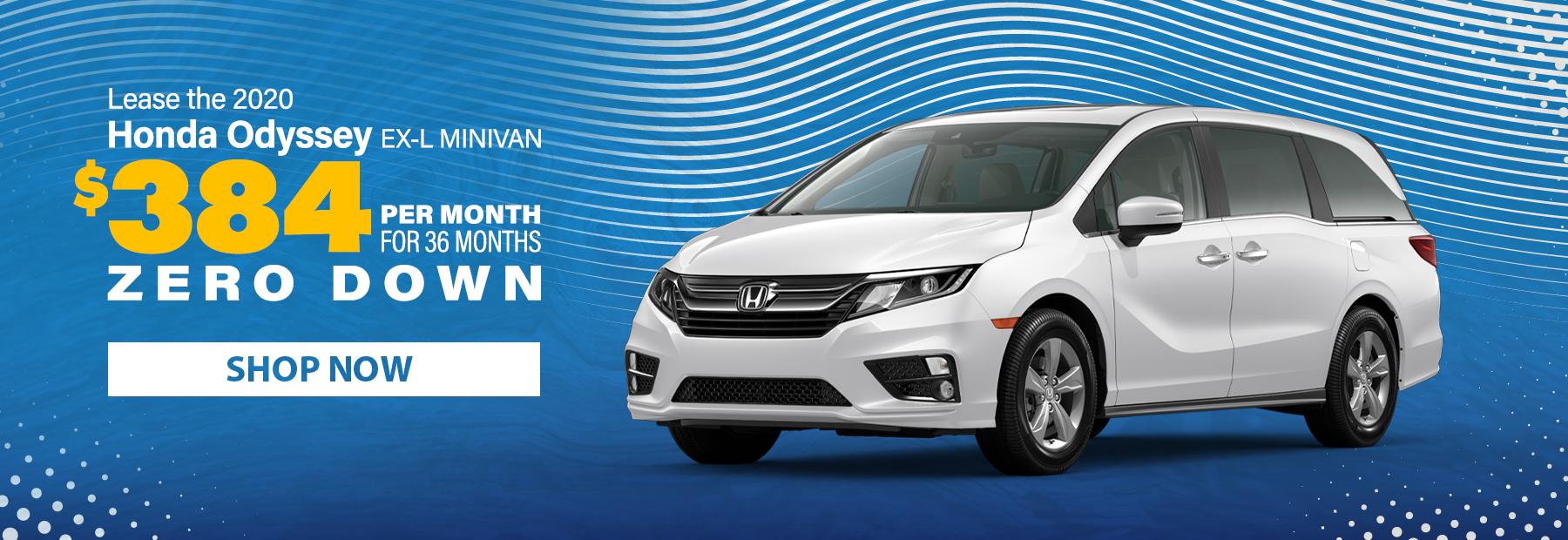Lease a 2020 Honda Odyssey EX-L Minivan