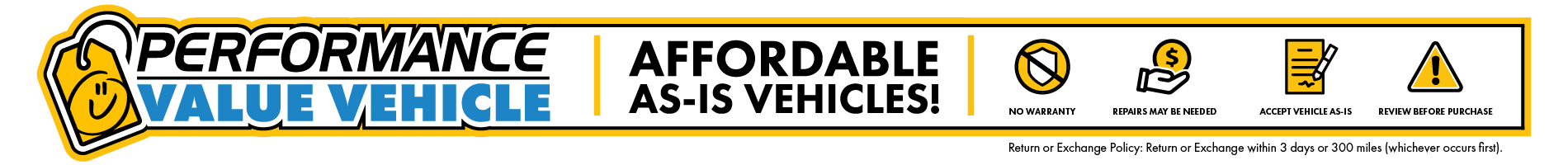 performance value vehicle page top desktop