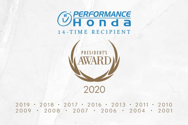 Performance Honda's 13th Honda President's Award