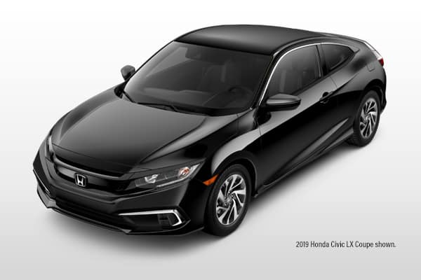 New 2019 Honda Civic LX CVT Coupe 2.0L
