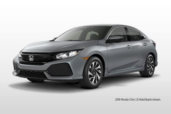 New 2019 Honda Civic LX CVT Hatchback