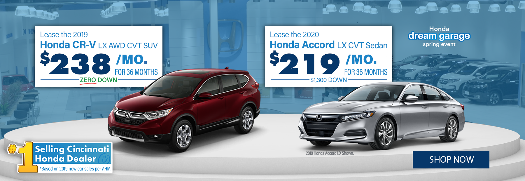 New Honda CR-V and Honda Accord Lease Dealer in Cincinnati, OH