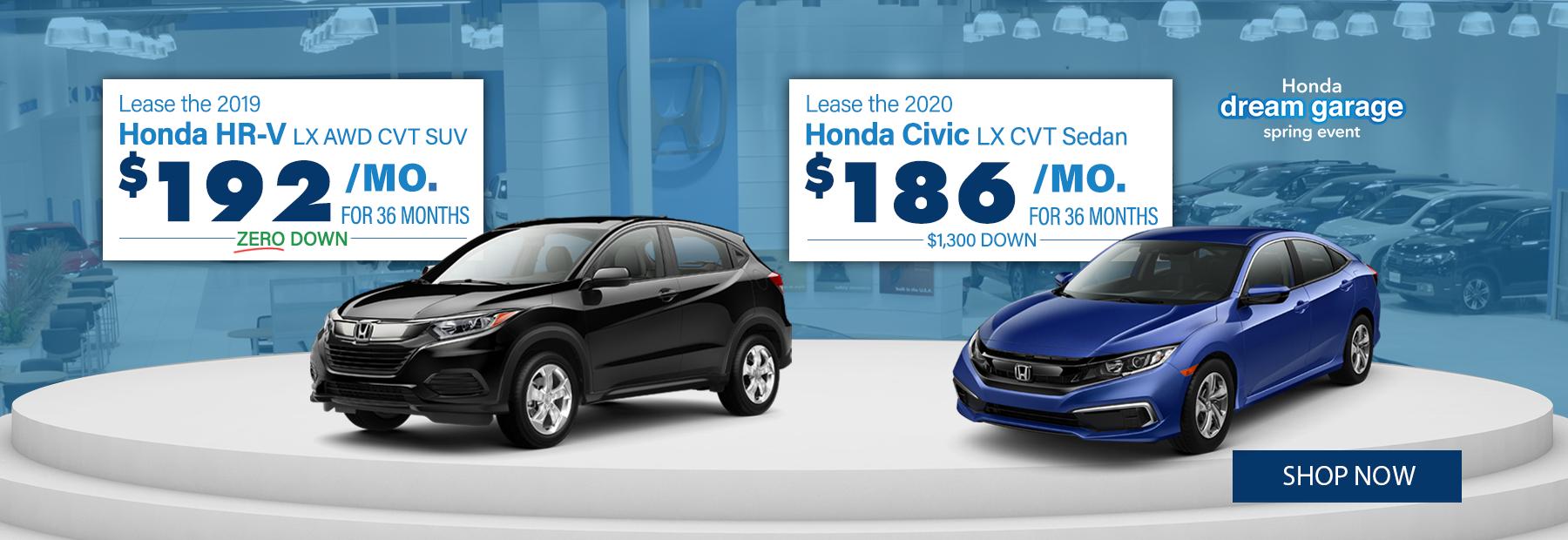 New 2020 Honda Civic and Honda HR-V Lease Deals in Cincinnati, OH