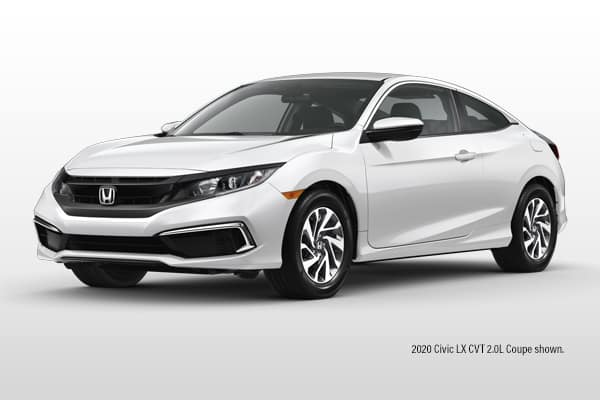 New 2020 Honda Civic LX CVT 2.0L Coupe