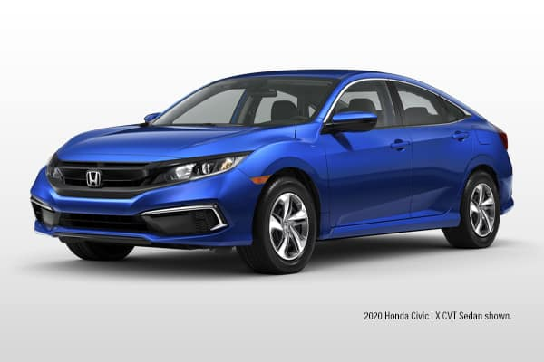 New 2020 Honda Civic LX CVT Sedan