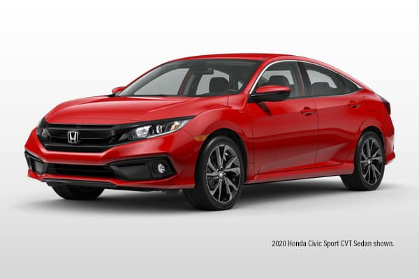 New 2020 Honda Civic Sport CVT Sedan