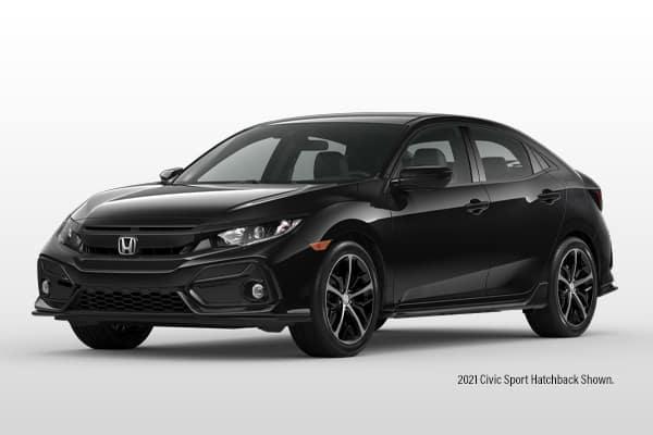 New 2021 Honda Civic Sport CVT Hatchback