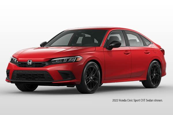 New 2022 Honda Civic Sport CVT Sedan