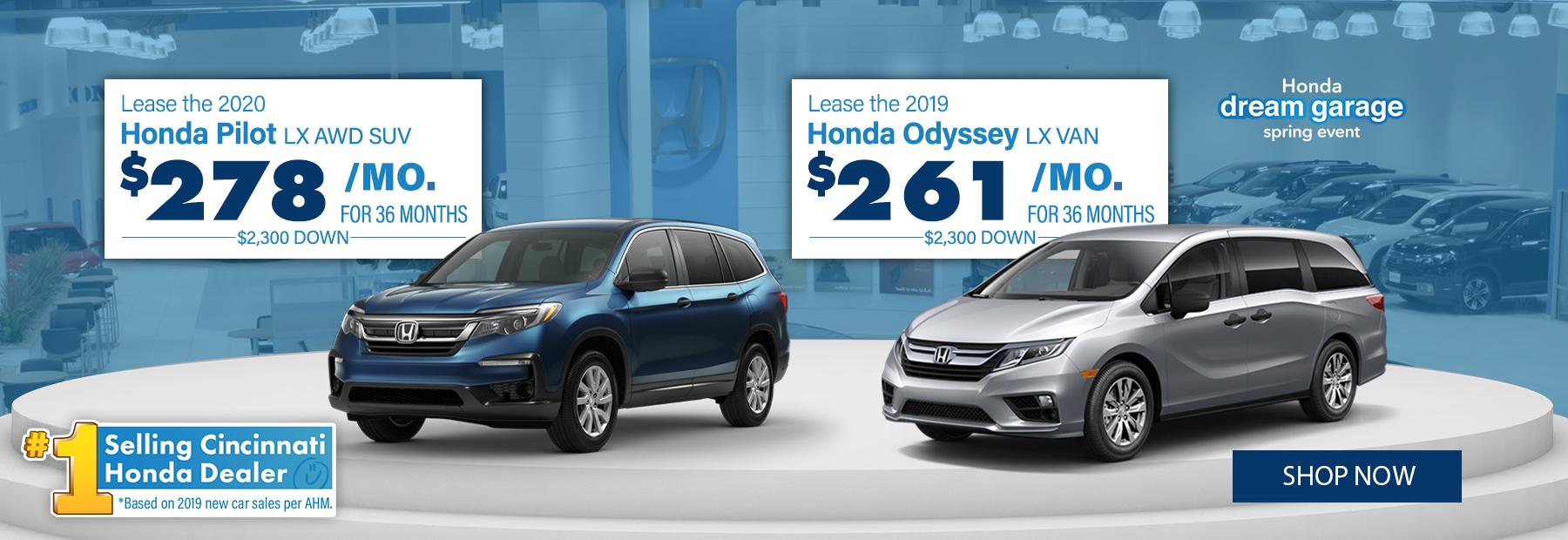 New 2020 Honda Pilot and Honda Odyssey Lease Deals in Cincinnati, OH