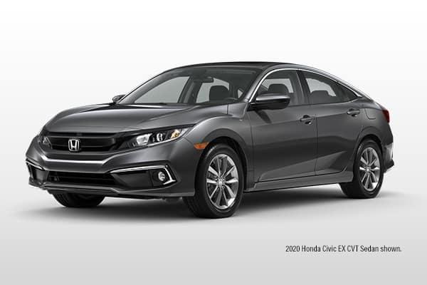 New 2021 Honda Civic EX CVT Sedan