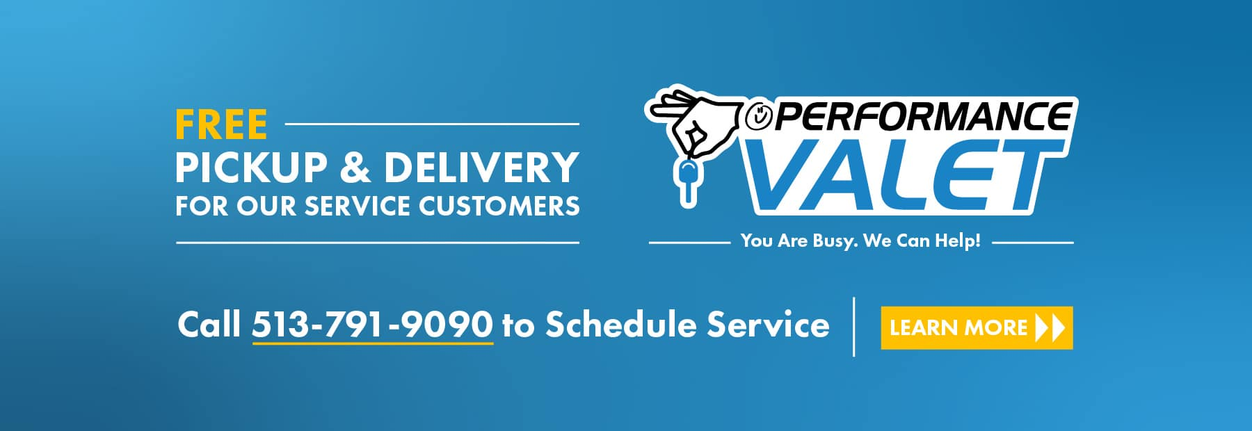 Performance Valet Pickup and Delivery