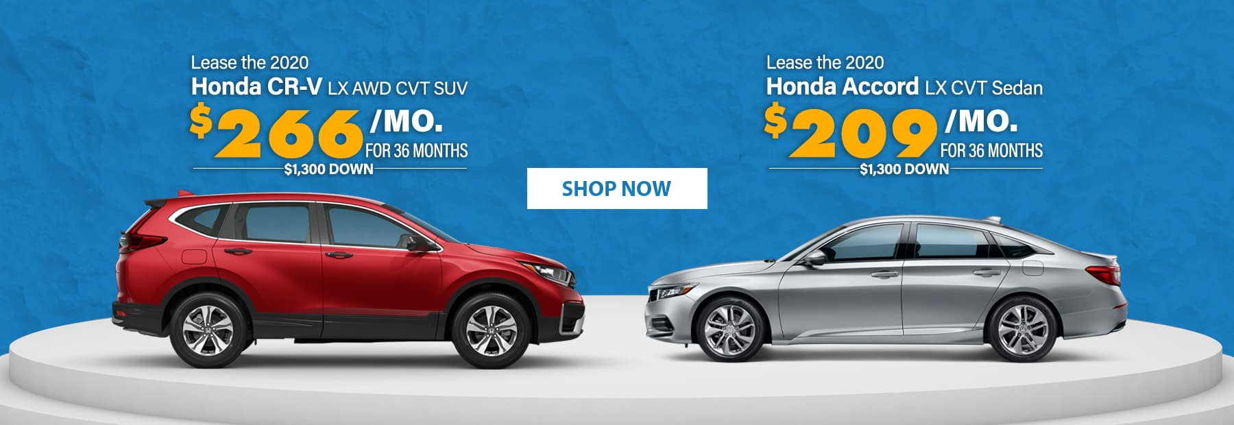 Lease a 2020 Honda CR-V LX AWD CVT SUV or Lease a 2020 Honda Accord LX CVT Sedan