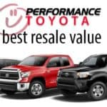 performance toyota best resale value