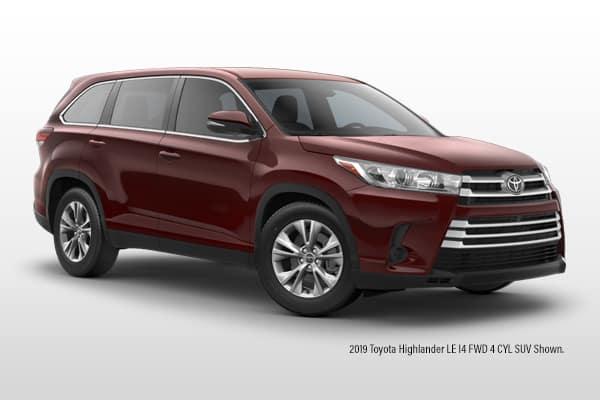 New 2019 Toyota Highlander LE I4 FWD 4 CYL SUV