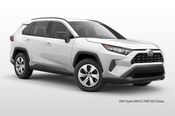 New 2019 Toyota RAV4 LE FWD SUV