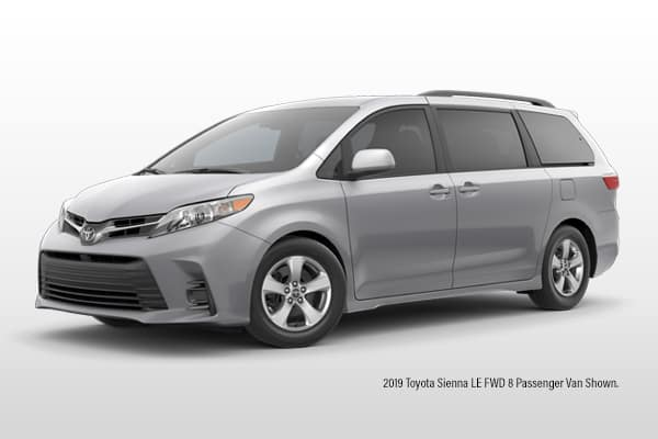 New 2020 Toyota Sienna LE FWD 8 Passenger Van