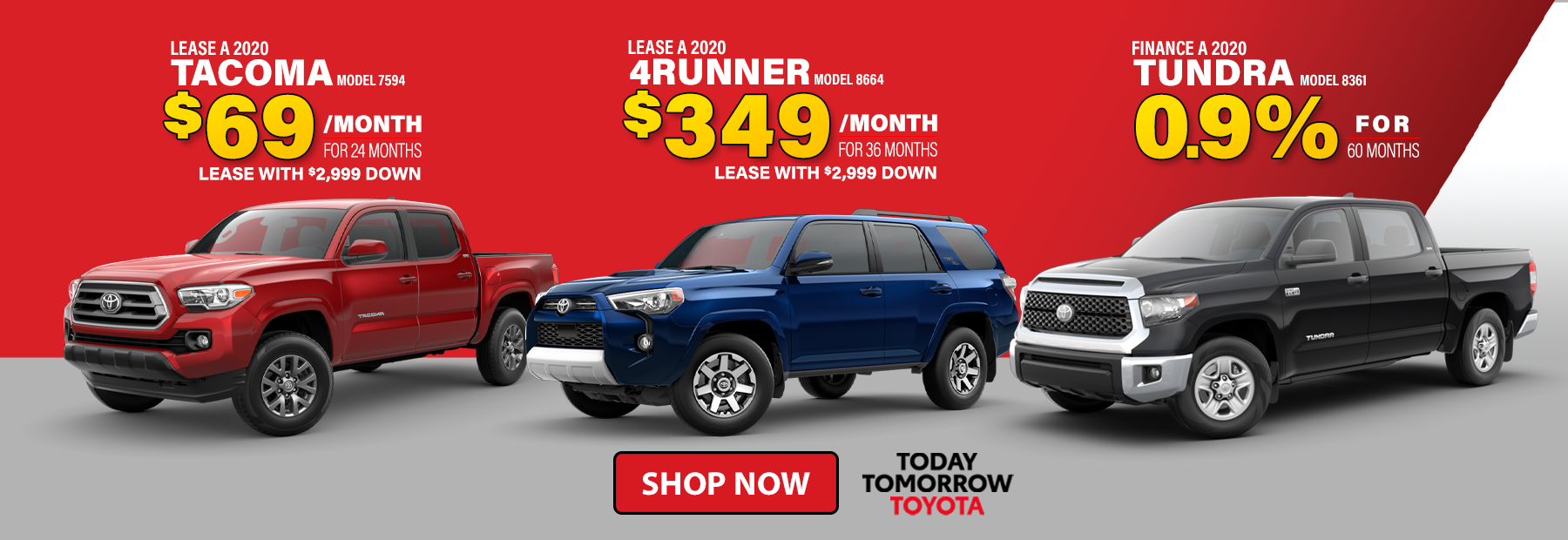 New 2020 Toyota Tacoma 4Runner Tundra Lease Deals in Cincinnati, OH
