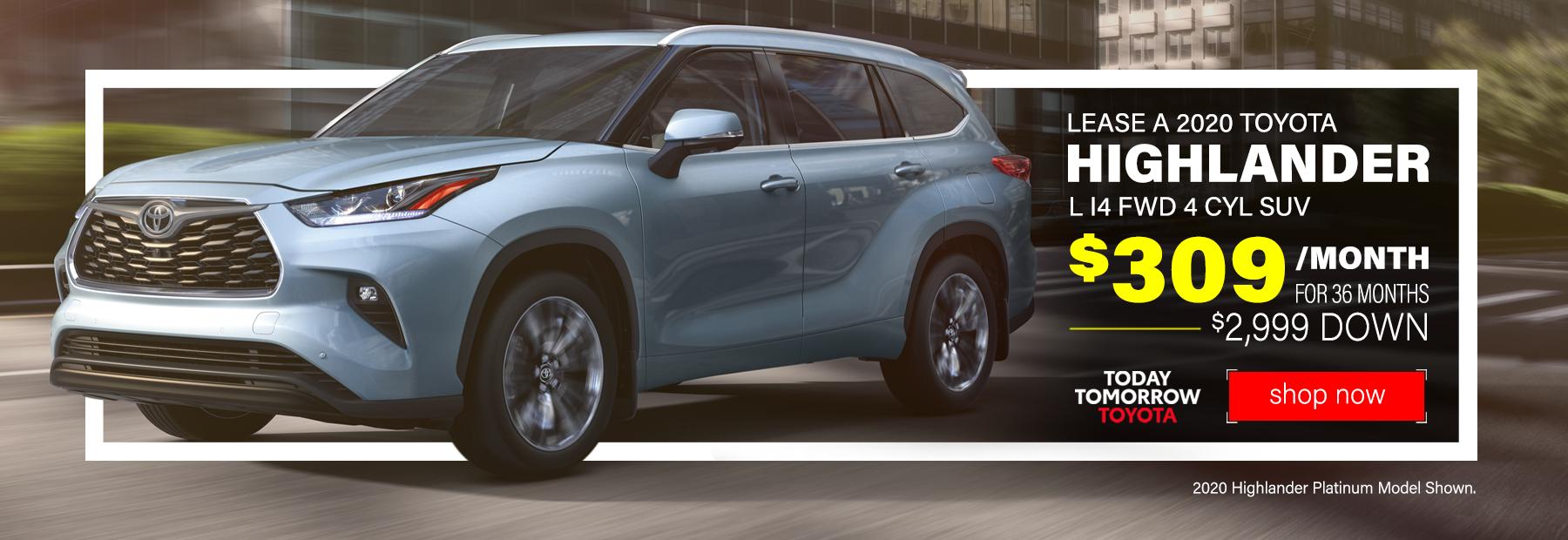 New 2020 Toyota Highlander Lease Deals in Cincinnati, OH