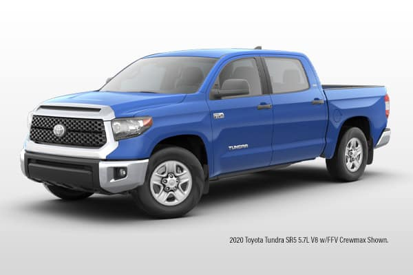 New 2021 Toyota Tundra SR5 5.7L V8 w/FFV CrewMax 4x4 Pickup Truck