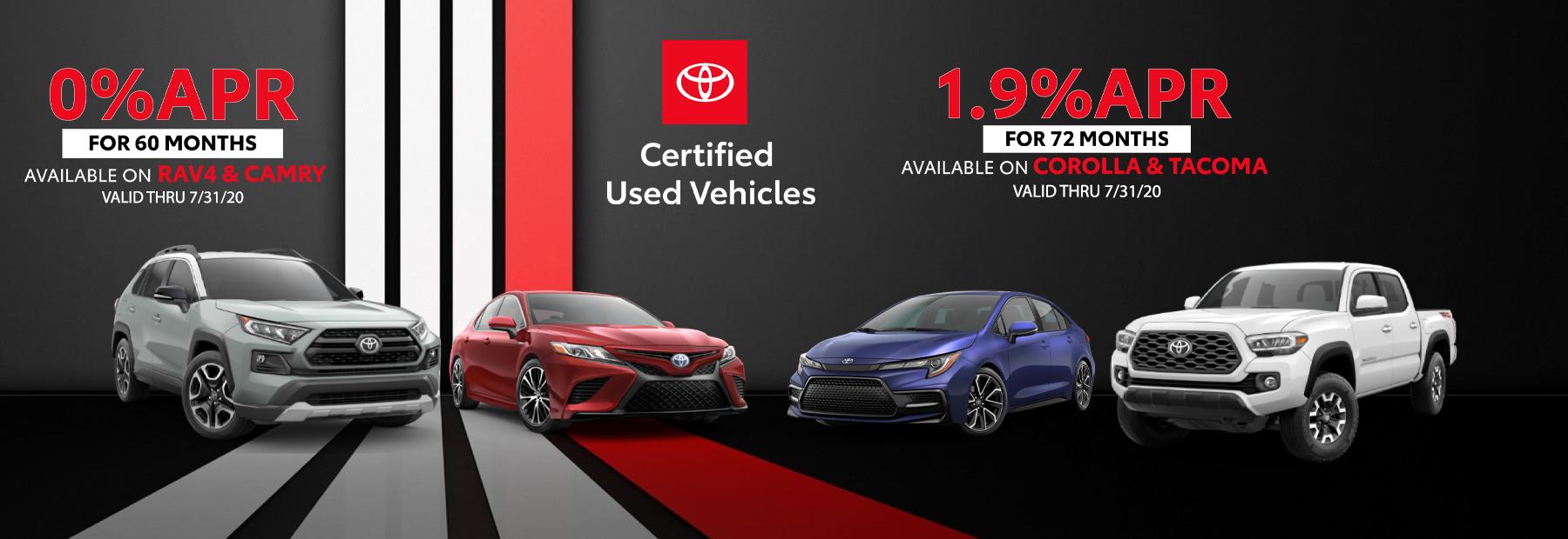 0% APR on Toyota Certified Used Cars near Cincinnati