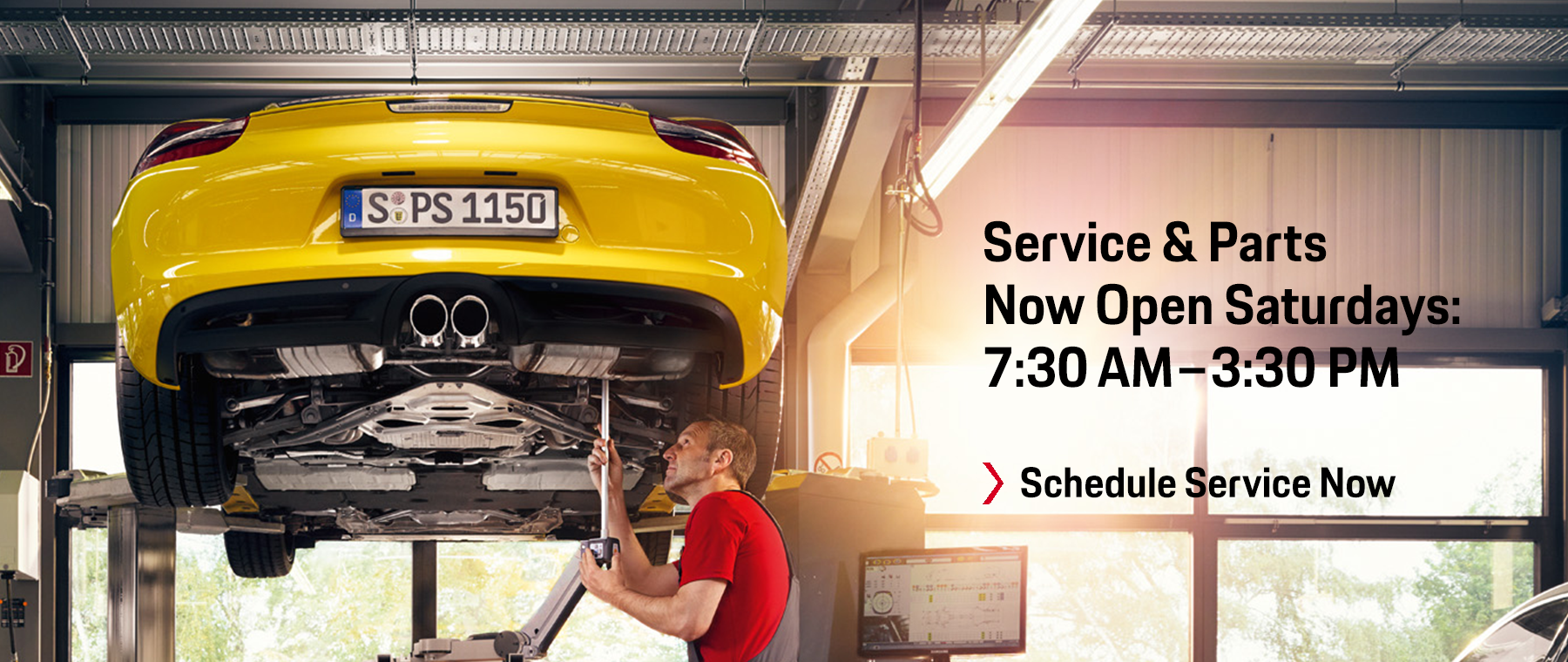 Service & Parts Now Open Saturdays: 7:30 AM–3:30 PM Schedule Service Now