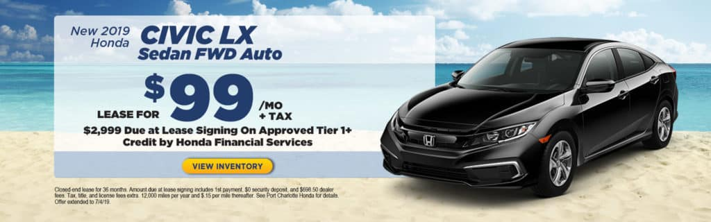 Honda Financial Services Account >> Current New Special Offers Port Charlotte Honda