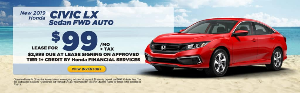 Honda Financial Services Payment >> Current New Special Offers Port Charlotte Honda