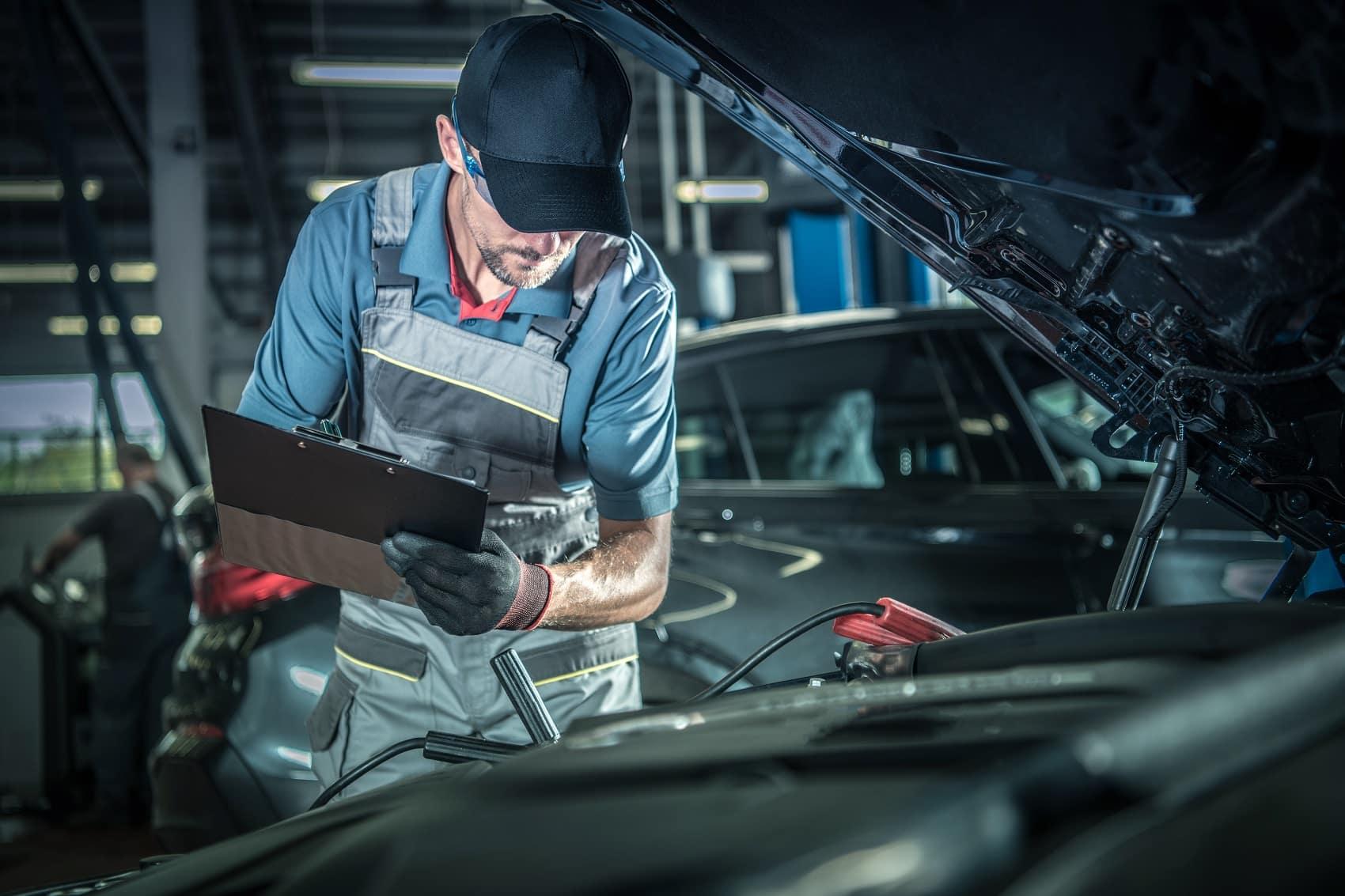 Mechanic under the hood