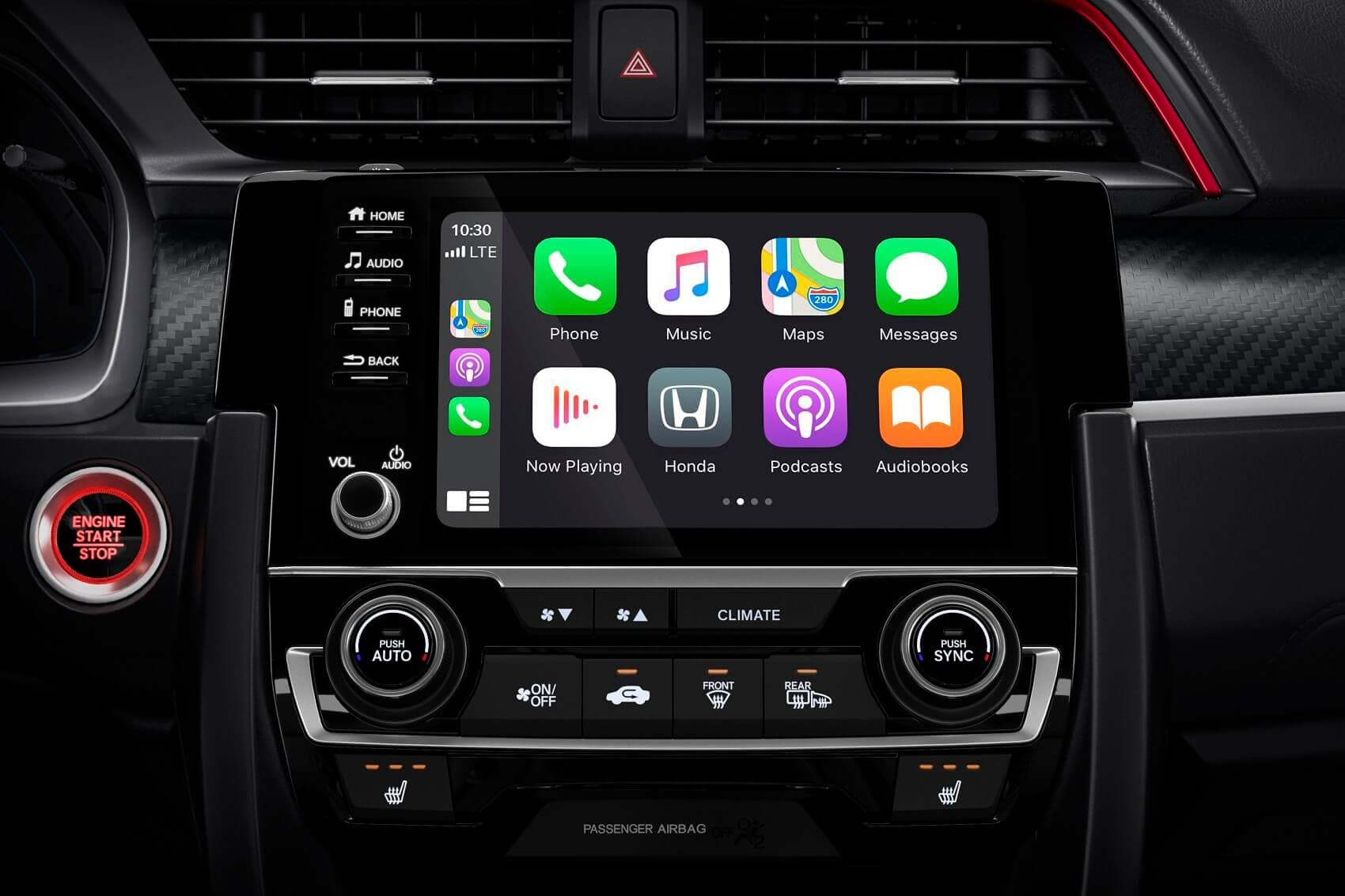 Honda Civic Interior with Apple CarPlay® Technology