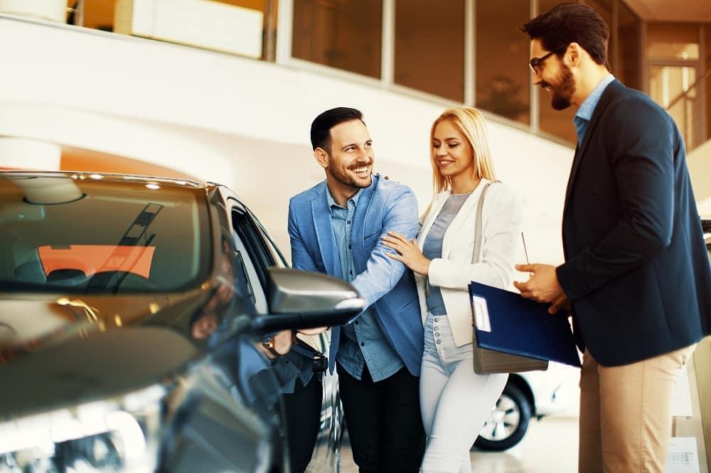 Browsing Vehicles at Dealership