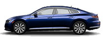 2019 Blue Arteon Side View