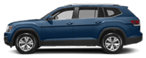 2019 Blue Volkswagen Atlas Exterior Side View