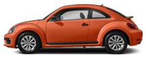 2019 Orange Volkswagen Beetle Exterior Side View