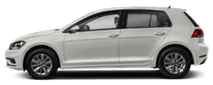 2019 White Volkswagen Golf Exterior Side View