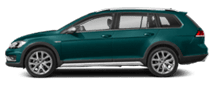 2019 Green Volkswagen Golf Alltrack Exterior Side View