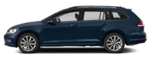 2019 Blue Volkswagen Golf SportsWagen Exterior Side View