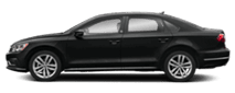 2019 Black Volkswagen Passat Exterior Side View