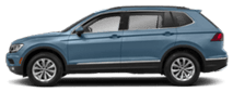 2019 Blue Volkswagen Tiguan Exterior Side View