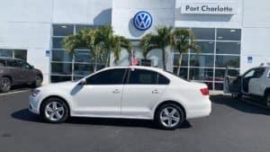 White Volkswagen at Port Charlotte VW