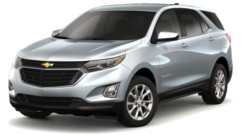 A silver 2019 Chevy Equinox is facing left.