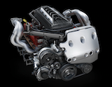 The brand new LT2 V8 power plant for the C8 Corvette
