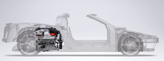 The mid engine layout for the new 2020 Corvette