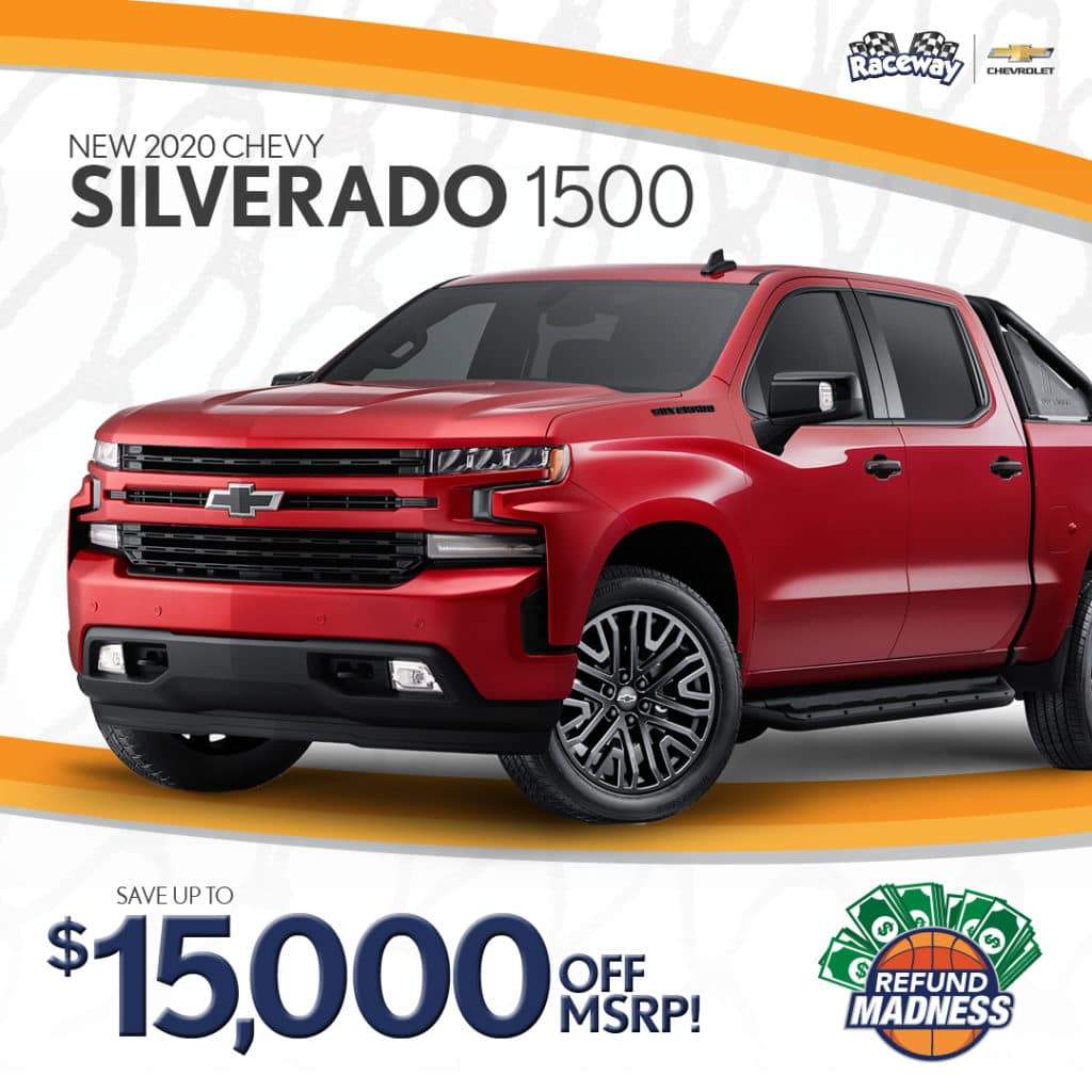 Save up to $15,000 off MSRP on a new 2020 Chevrolet Silverado 1500!
