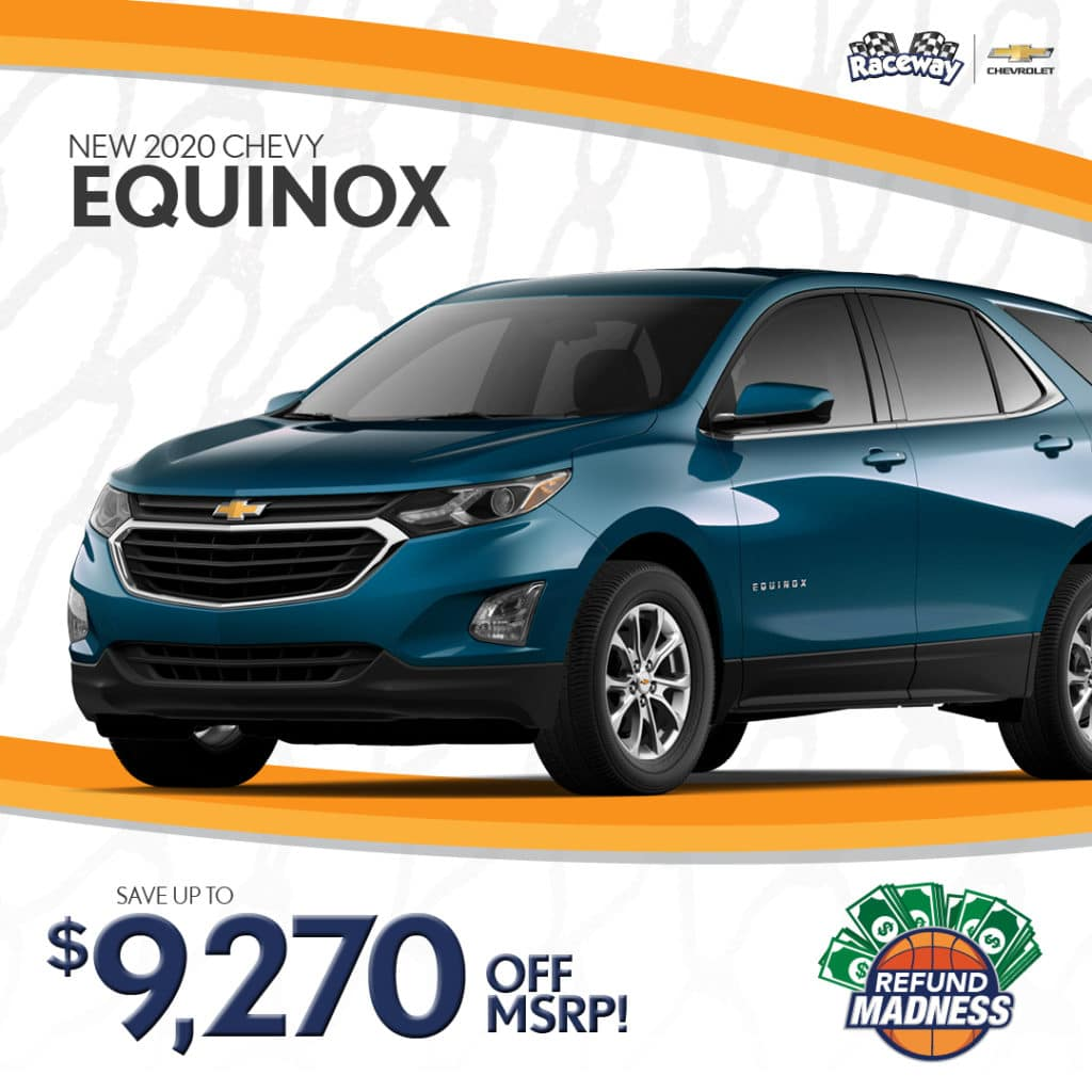 Save up to $9,270 off MSRP on a new 2020 Chevrolet Equinox!