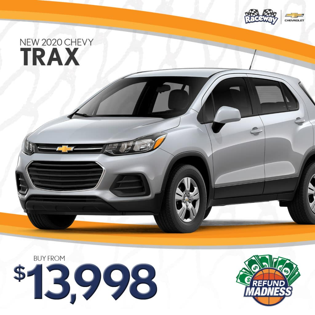 Purchase a new 2020 Chevy Trax for only $13,998!