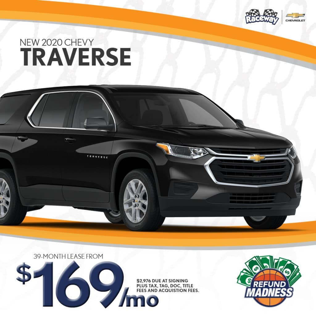 Lease a New 2020 Chevy Traverse for only $169 a month!