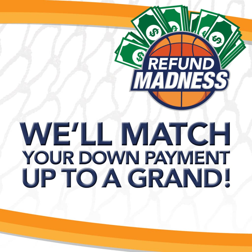 We'll match your down payment up to $1,000 during the month of March!