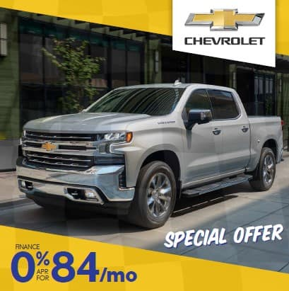 0% APR and NO payments for 120 days on ALL Silverados!