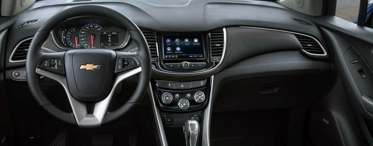 The dashboard of a 2020 Chevy Trax is shown.