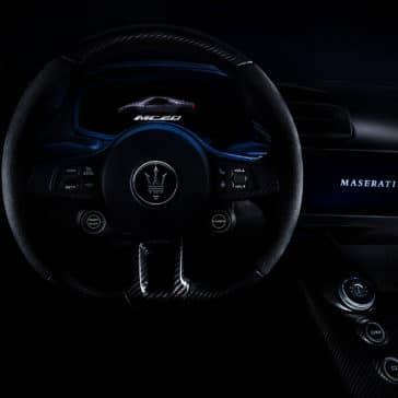MC20 interior drivers view